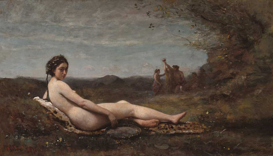 jean baptiste camille corot _The Repose_ 1860_ reworked c. 1865-1870_950