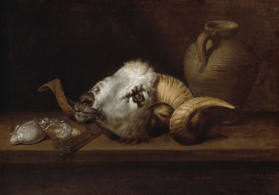 Anonymous Sevillian_Still Life with Ram's Head_950