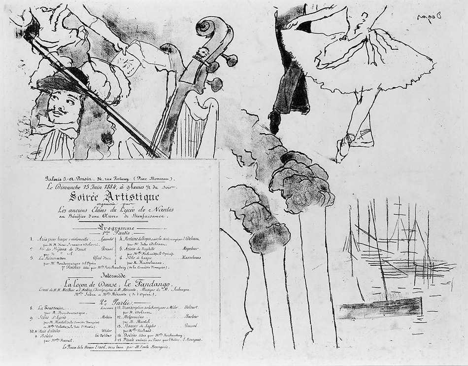 Edgar-Degas-Program for the Soirée Artistique
