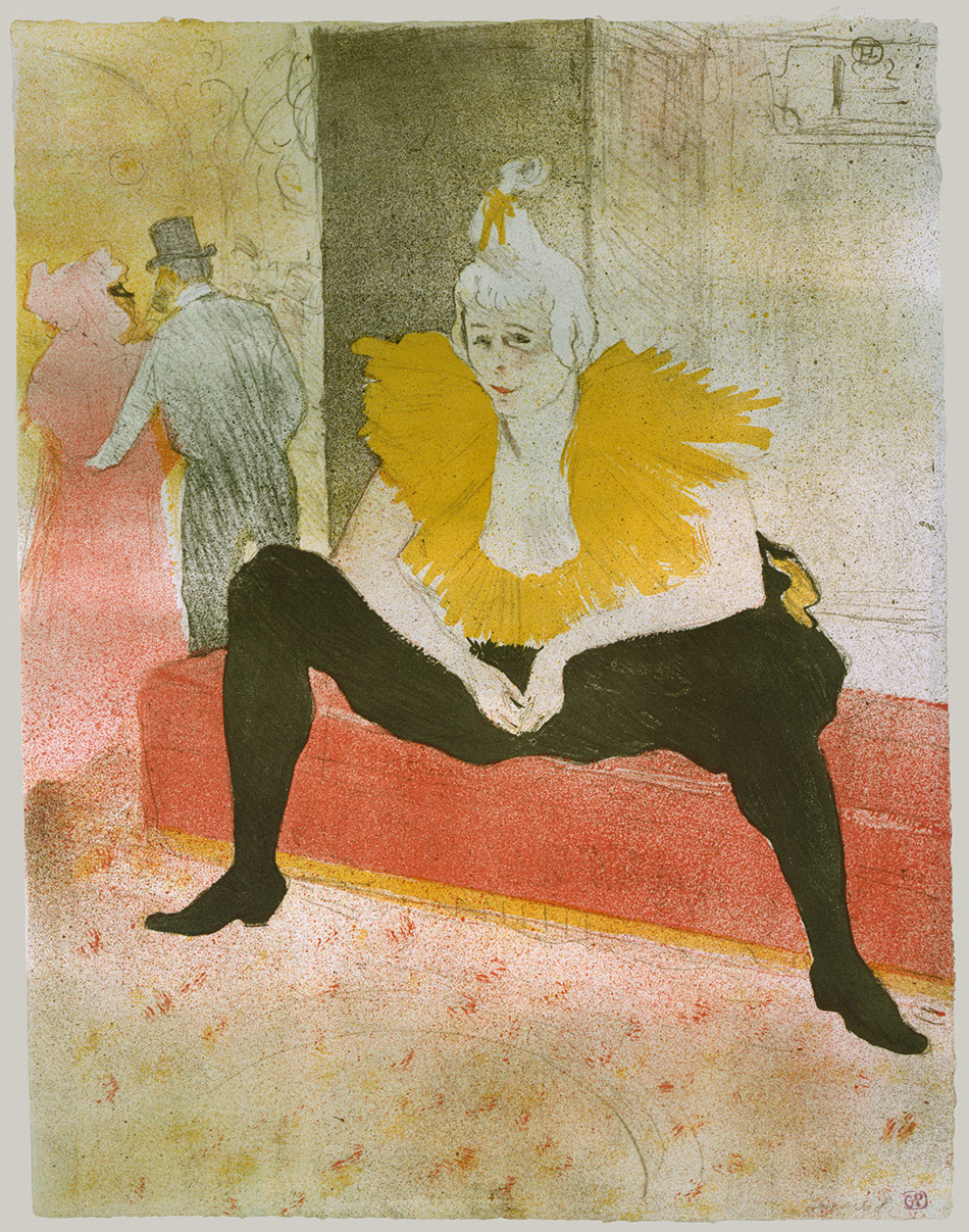 Henri-de-Toulouse-Lautrec-The seated clowness