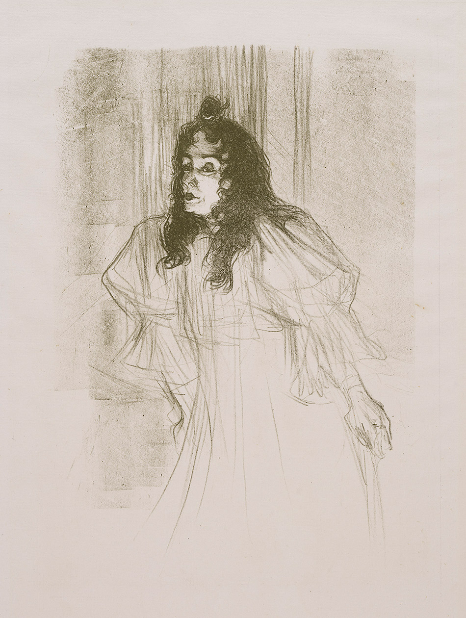 Henri de Toulouse-Lautrec_Miss May Belfort with her hair down