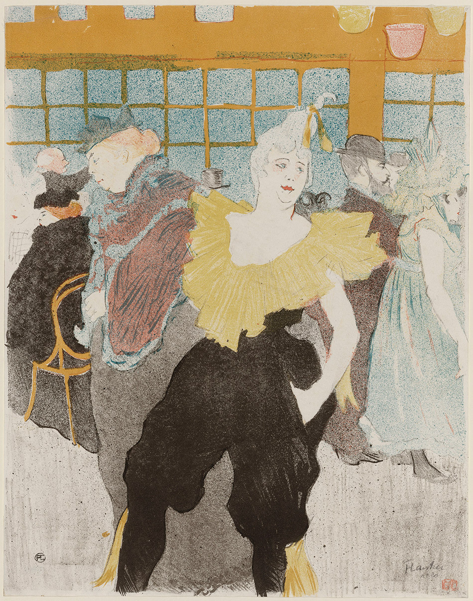 Henri de Toulouse-Lautrec_The Clowness at the Moulin Rouge