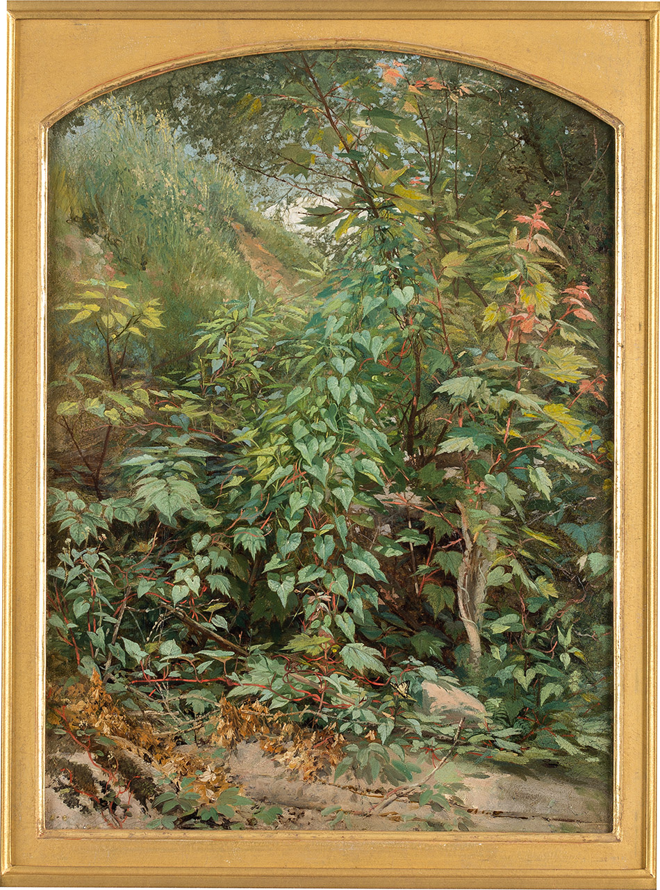 Aaron-Draper-Shattuck_Leaf-Study-with-Yellow-Swallow-Tail--c.-18594104-046_Private-Collection_950w