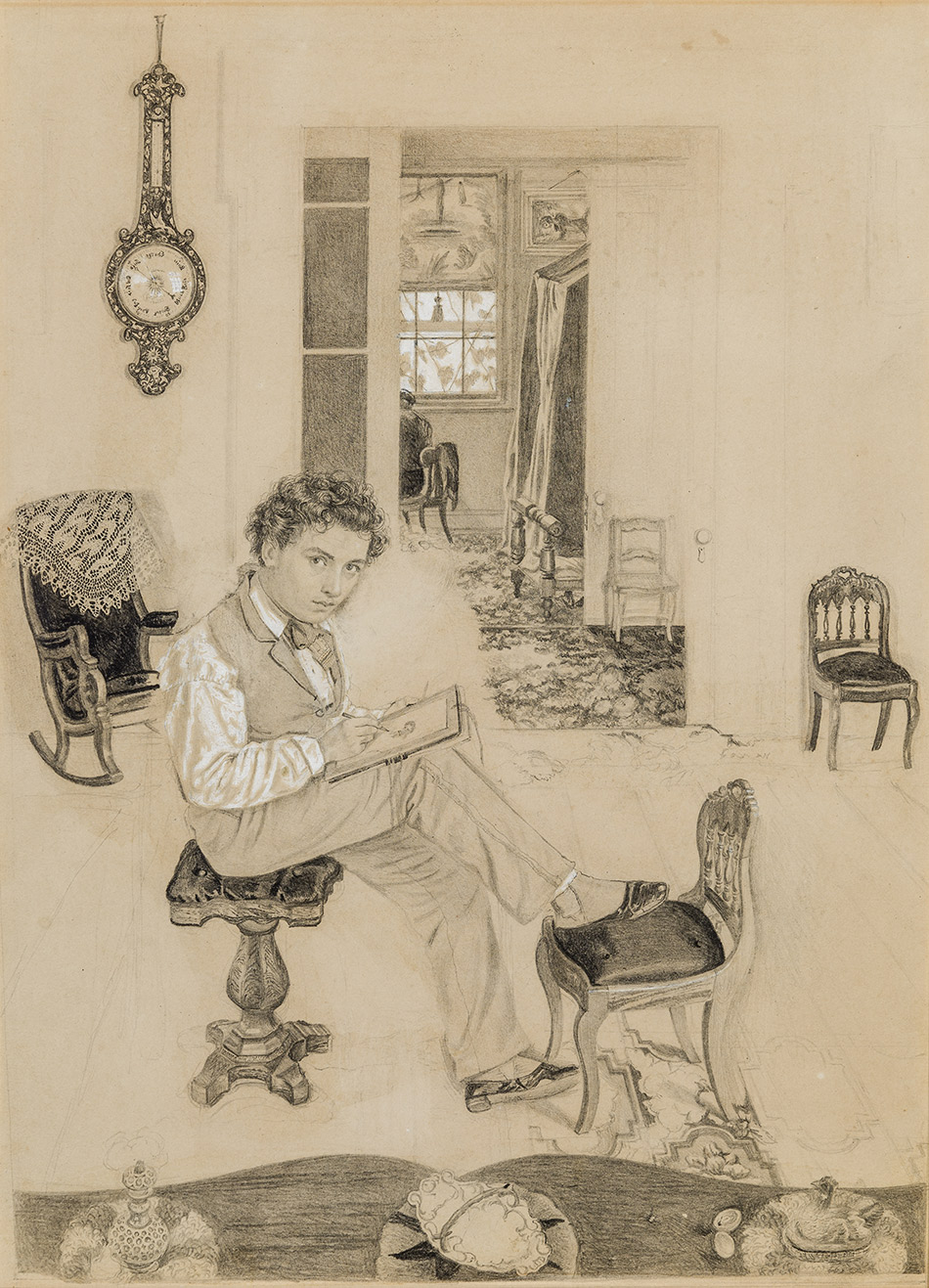Thomas-C.-Farrer_Self-Portrait_Sketching_c,1859_4104-048_Lent-by-Mr.-and-Mrs.-Stuart-P.-Feld_950w