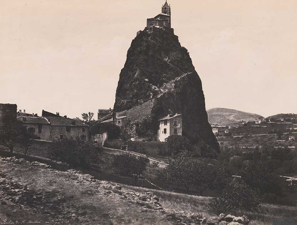 Edouard-Denis Baldus_Rocher de St. Michel au Puy (Rock of St. Michel in Puy), 1854