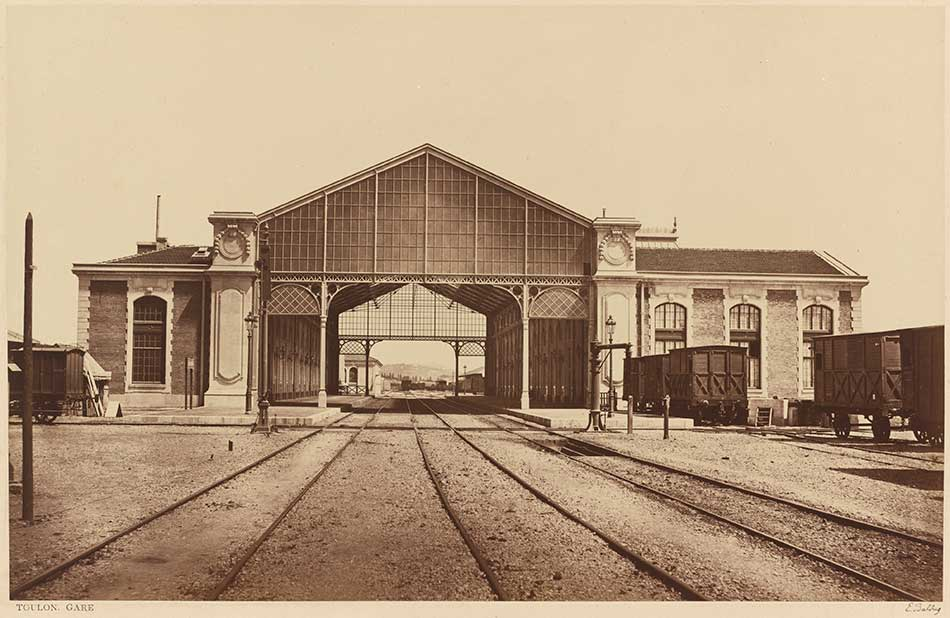 Edouard-Denis Baldus_Toulon, Gare (Toulon, Train Station), 1861 or later_950 W