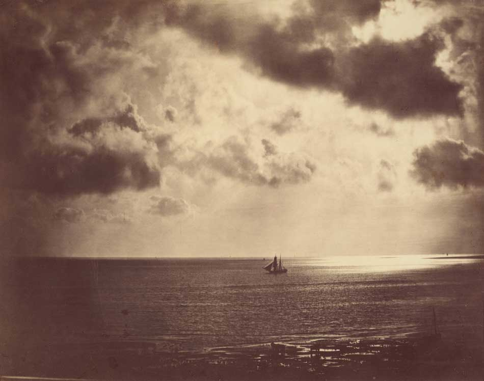Gustave Le Gray (French, 1820 - 1884), Brig on the Water, 1856, albumen print,