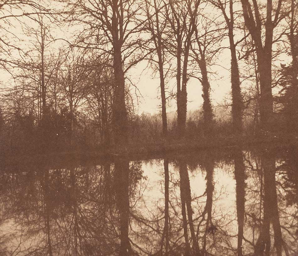 William Henry Fox Talbot_Trees and Reflections, Lacock Abbey, c. 1843