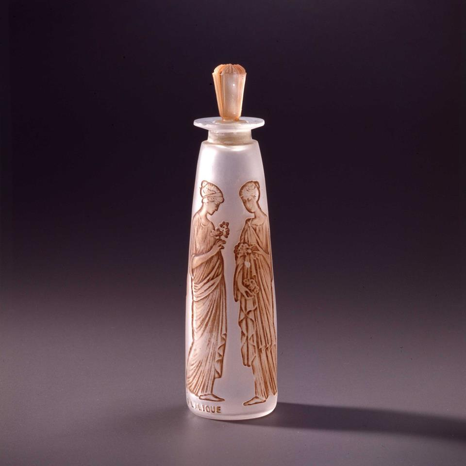 L.Ambre Antique Lalique Flask