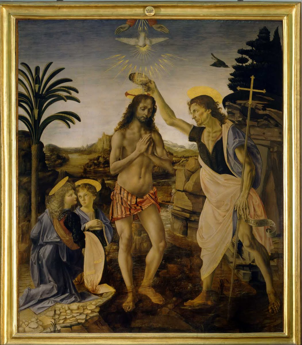 Andrea del Verrocchio and Leonardo da Vinci_The Baptism of Christ
