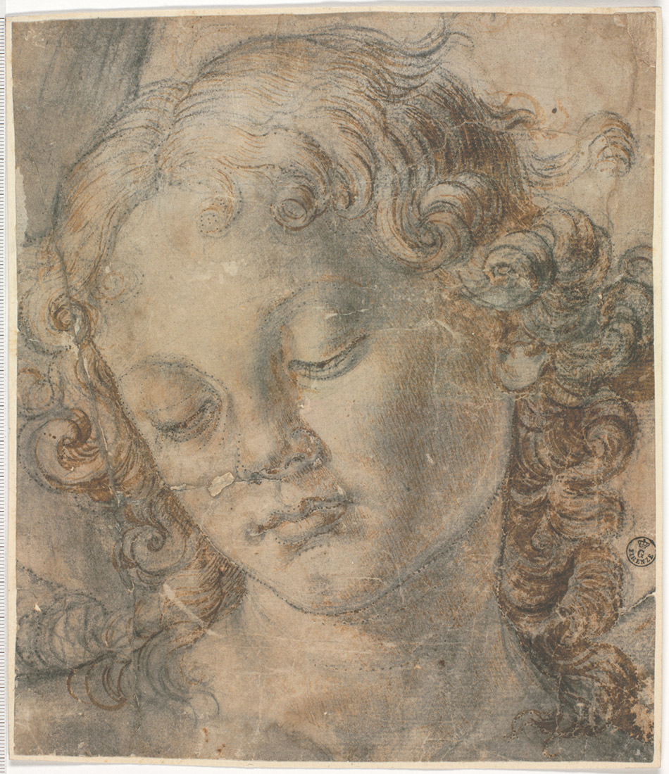 Andrea-del-Verrocchio_Cartoon-for-the-Head-of-an-Angel_950-W
