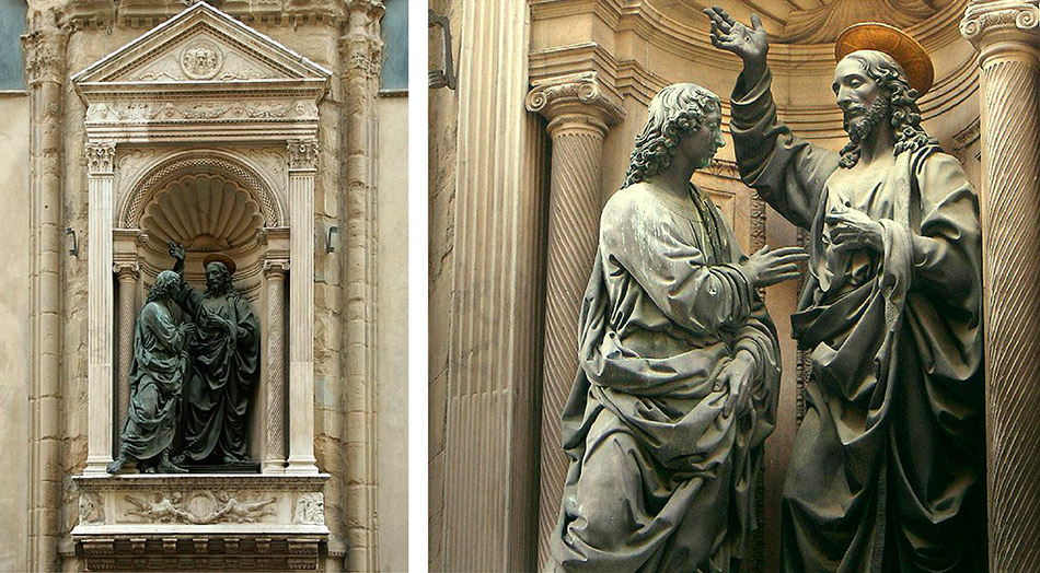 Andrea-del-Verrocchio_Christ-and-Saint-Thomas_Firenze-Orsanmichele_niche-and-detail_950-W