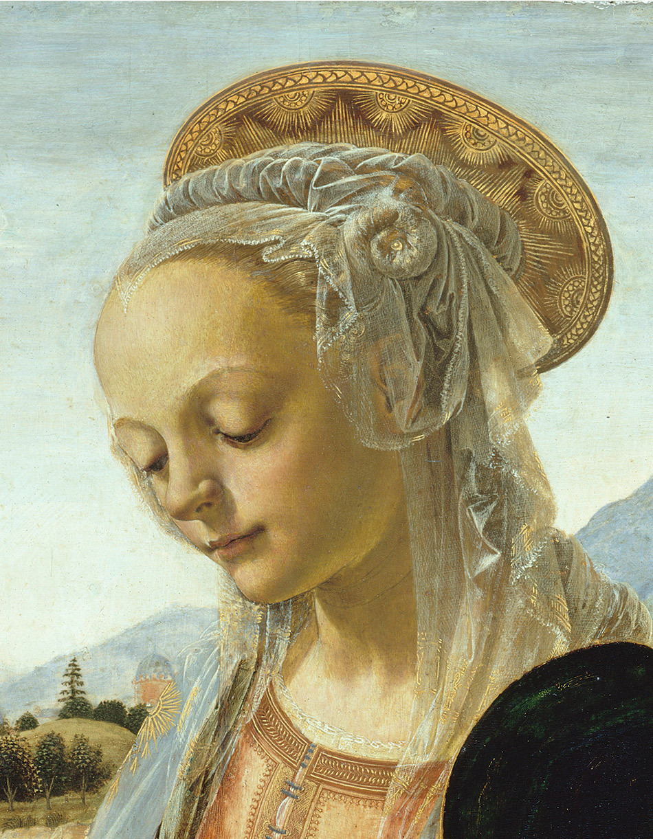 Andrea-del-Verrocchio_Madonnna-and-Child_painting_detail head_950-W