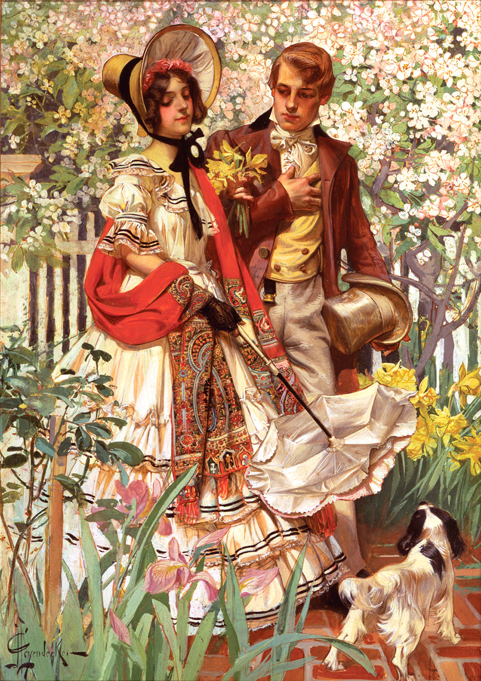 J.C. Leyendecker_Christmas_Carolers_detail_950-WGarden_Walk_950-W