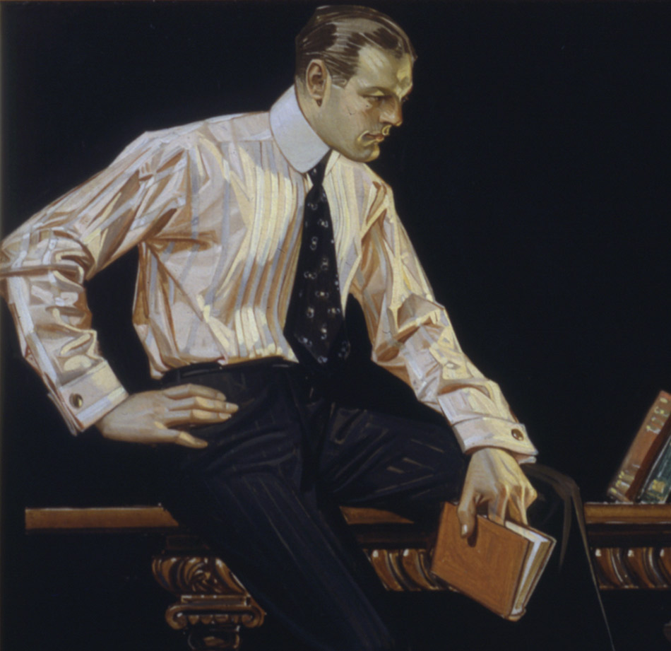 J.C.Leyendecker_Men-Reading---Arrow-Collar-Ad_HR_950-W