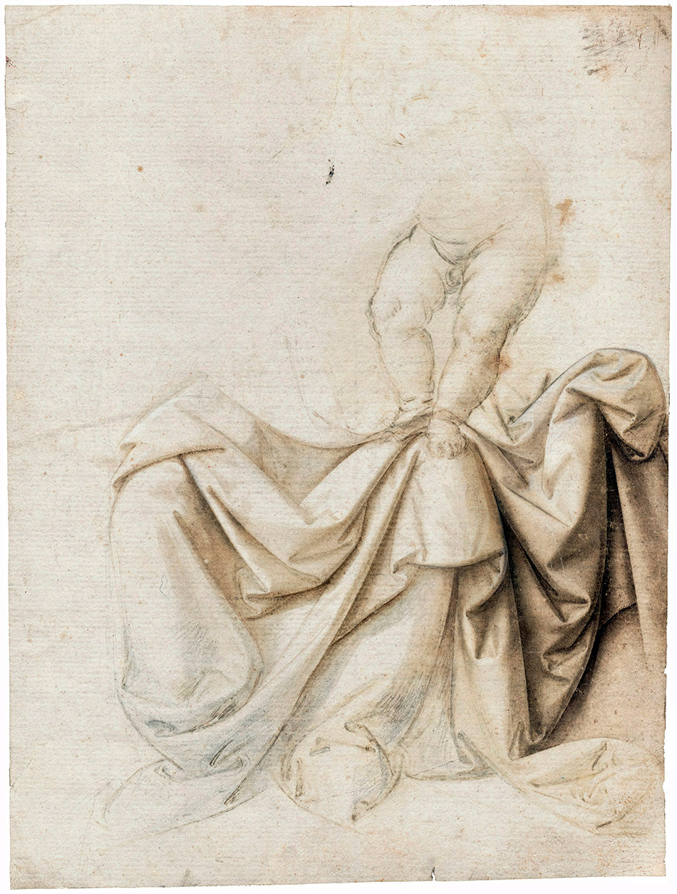 Lorenzo-di-Credi_A-Drapery-Study-with-the-Christ-Child-Standing-on-the-Madonna-Left-Knee_950-W