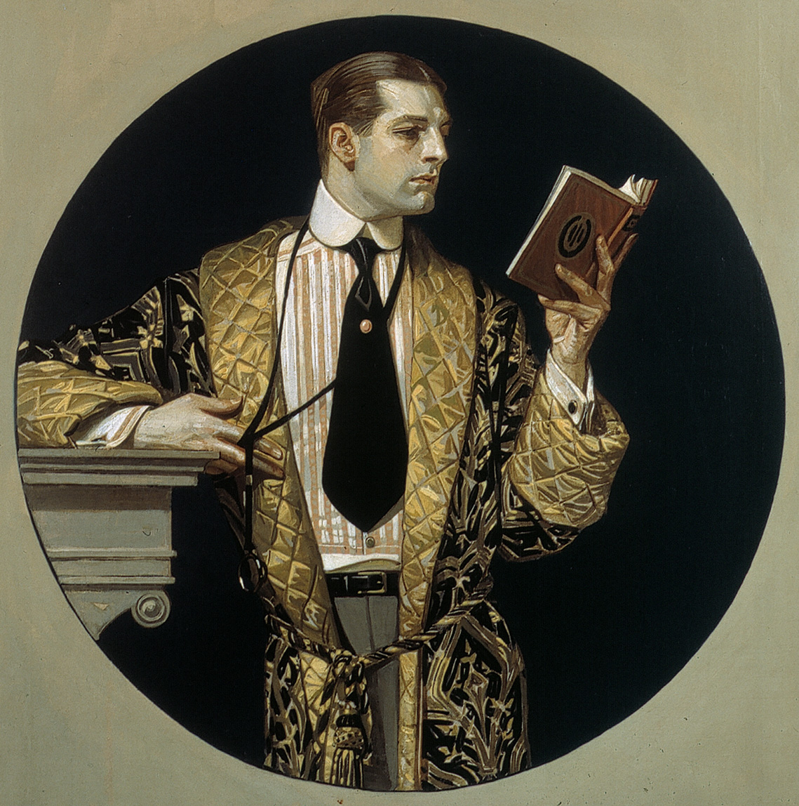 J.C. Leyendecker_Man Reading in Circle_HR