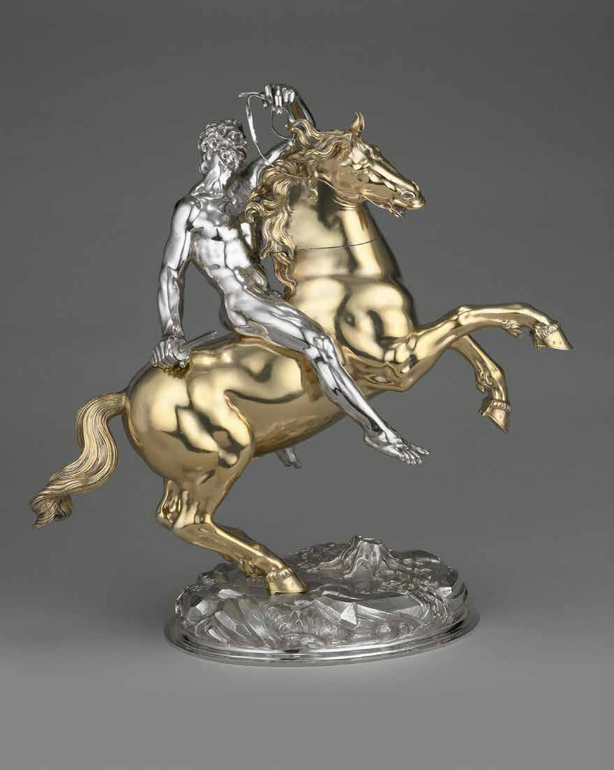 Hans Ludwig Kienle (or Kienlin,_Drinking Cup in the Form of a Horse and Rider