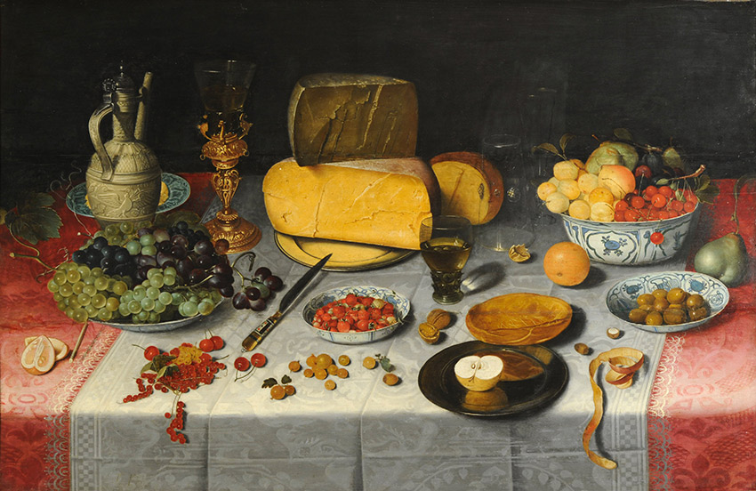 Floris_van_Dijck---Still-Life-with-Fruit-and-Olives_850-W