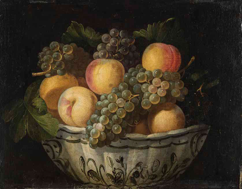 Juan-van-der-Hamen-y-Leon_spanish_Peaches-and-Grapes-in-a-Faience-Bowl_840-w