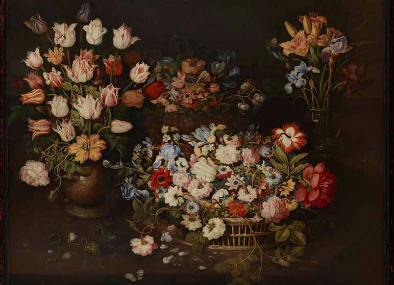 Osias-Beert-the-Elder_Still-Life-of-Tulips-and-an-Apothecarys-Rose-in-a-Stoneware-Vase_772-w
