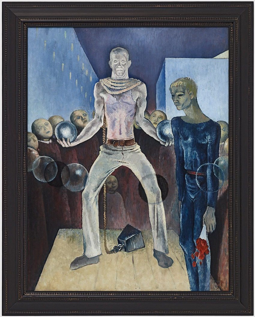 B__Weight-Lifting, Berlin, 1931. Glyn Warren Philpot British, 1884–1937_850 W
