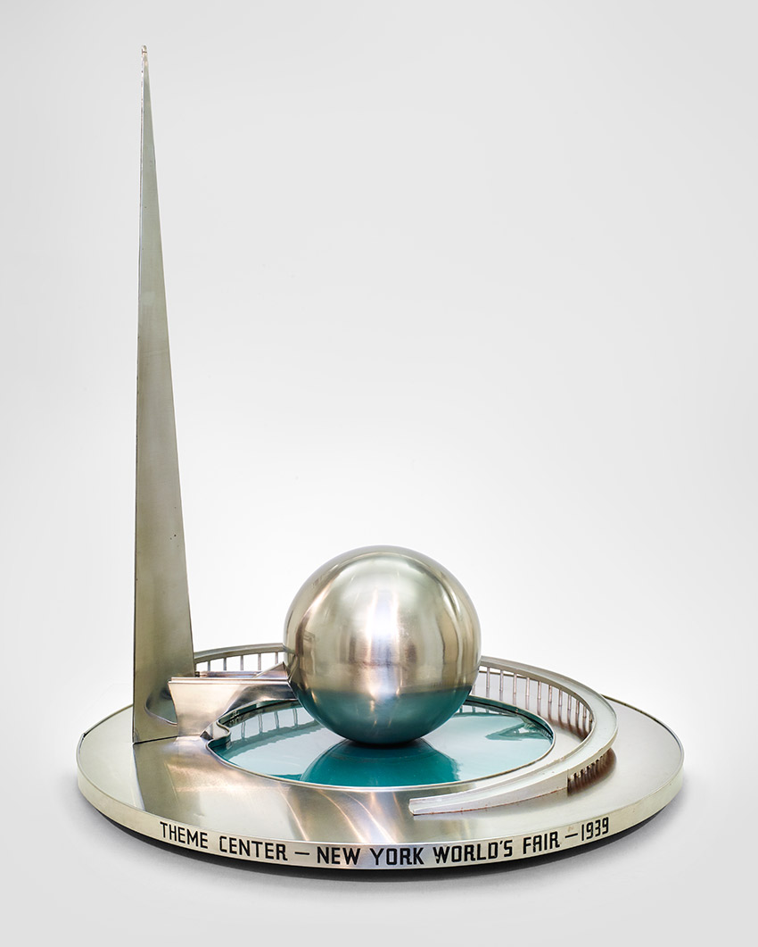 B__Model, Trylon and Perisphere, c. 1938. Wallace K. Harrison -American, 1895–1981) andAndre Fouilhoux, -French, 1879–1945, architects_850 W