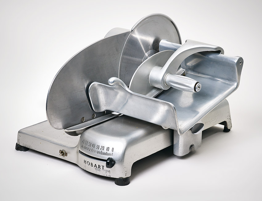 E__Meat slicer, Streamliner, model 410, 1940 Egmont H. Arens_850 W