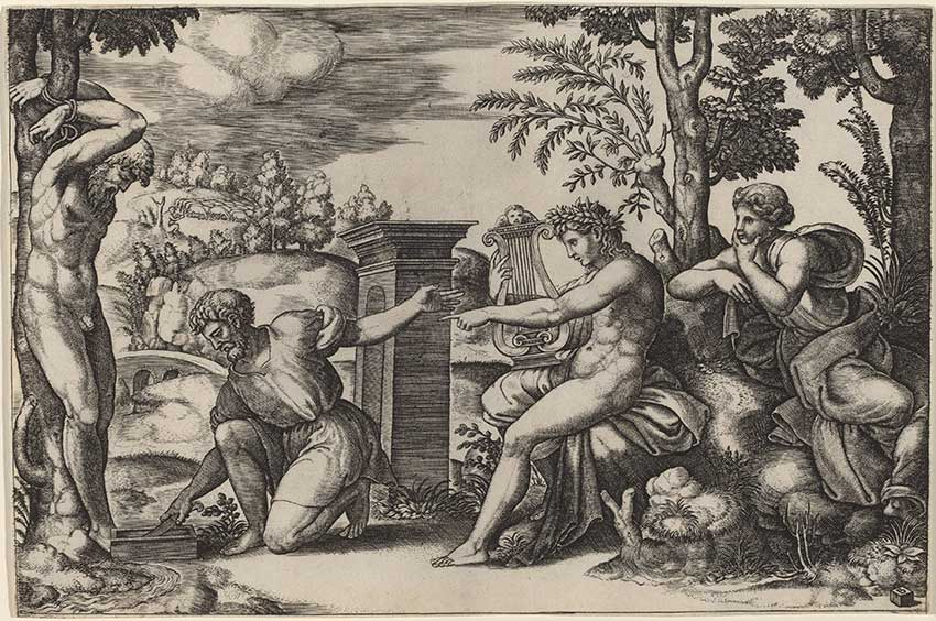 Master-of-the-Die-after-Raphael_Apollo-and-Marsyas,-1530s_5366-024