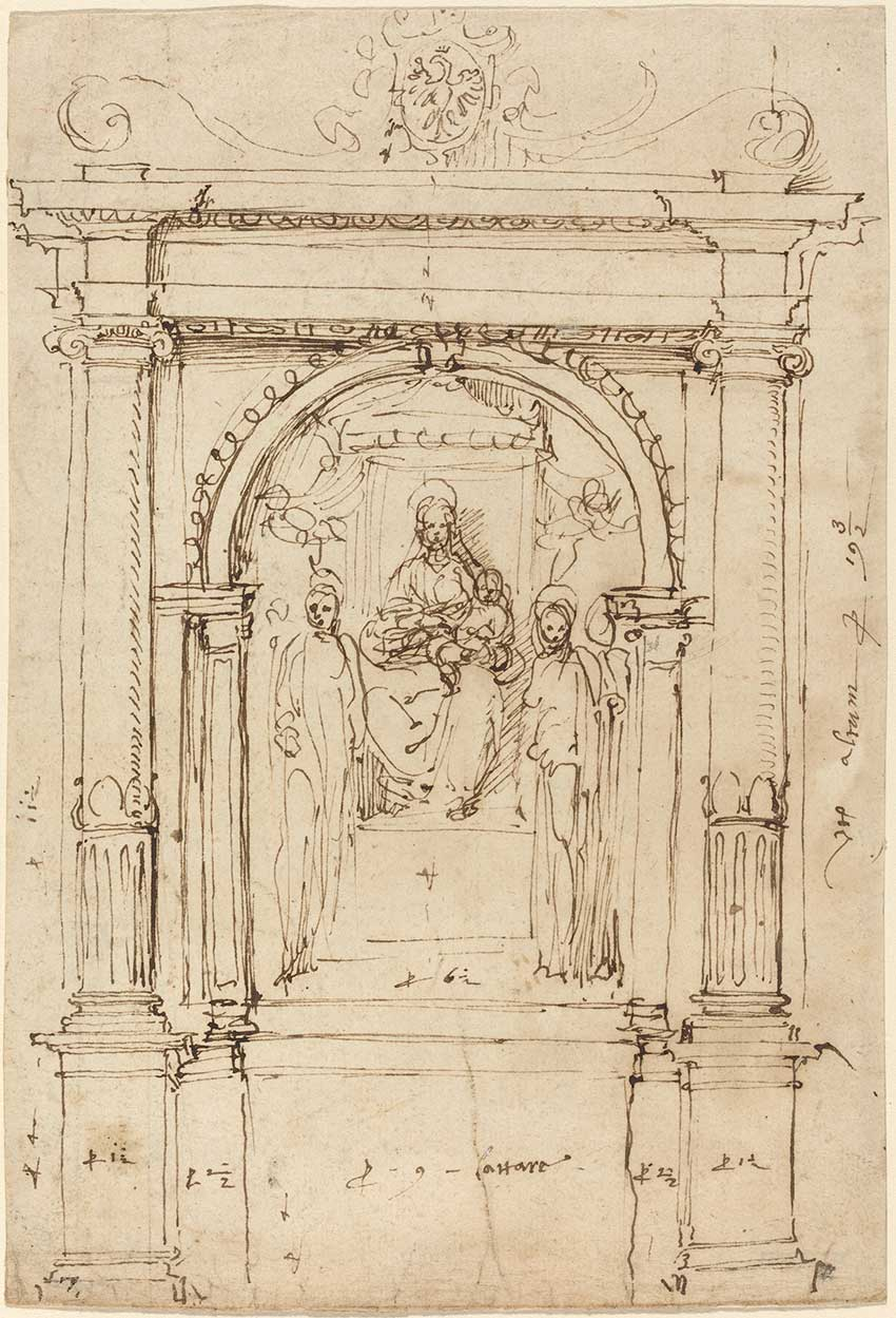 Perino-del-Vaga_Altarpiece-of-the-Madonna-and-Child-with-Saints,-in-Its-Architectural-Setting,-1528-1537_5366-009