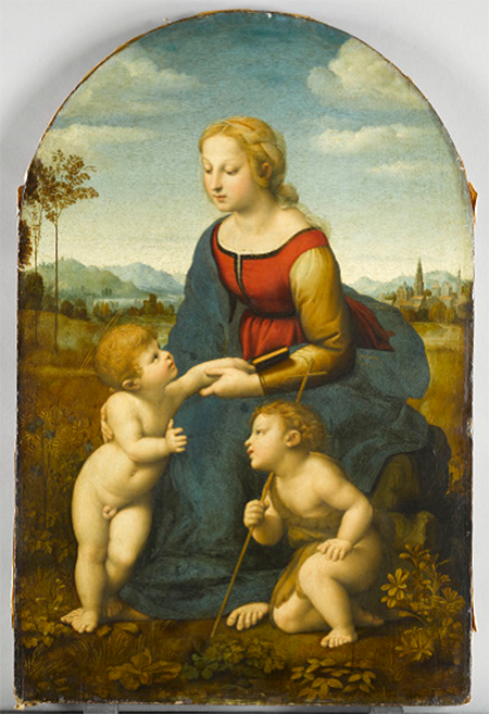 Raphael, The Virgin and Child with Saint John the Baptist_450