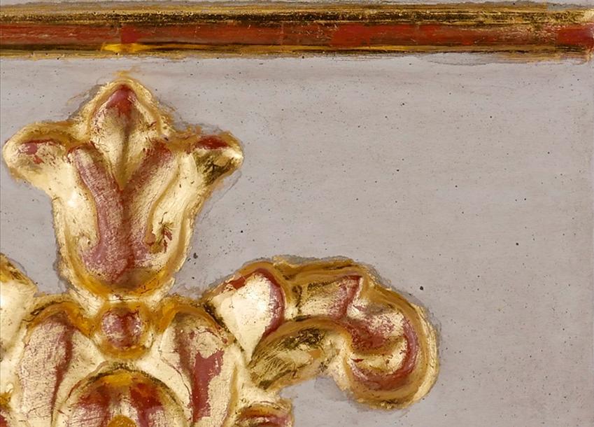 Golden Porter oro acabado-estuco-y-pigmento-gris