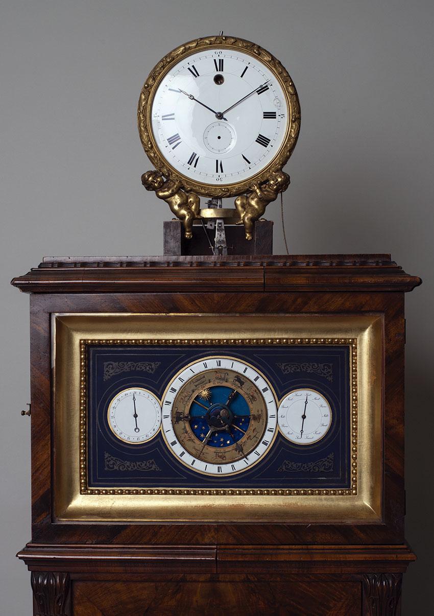 12_Regulador astronomico aleman. Circa 1850. 202x49x27 cm. Nº Inv. P.O. 270