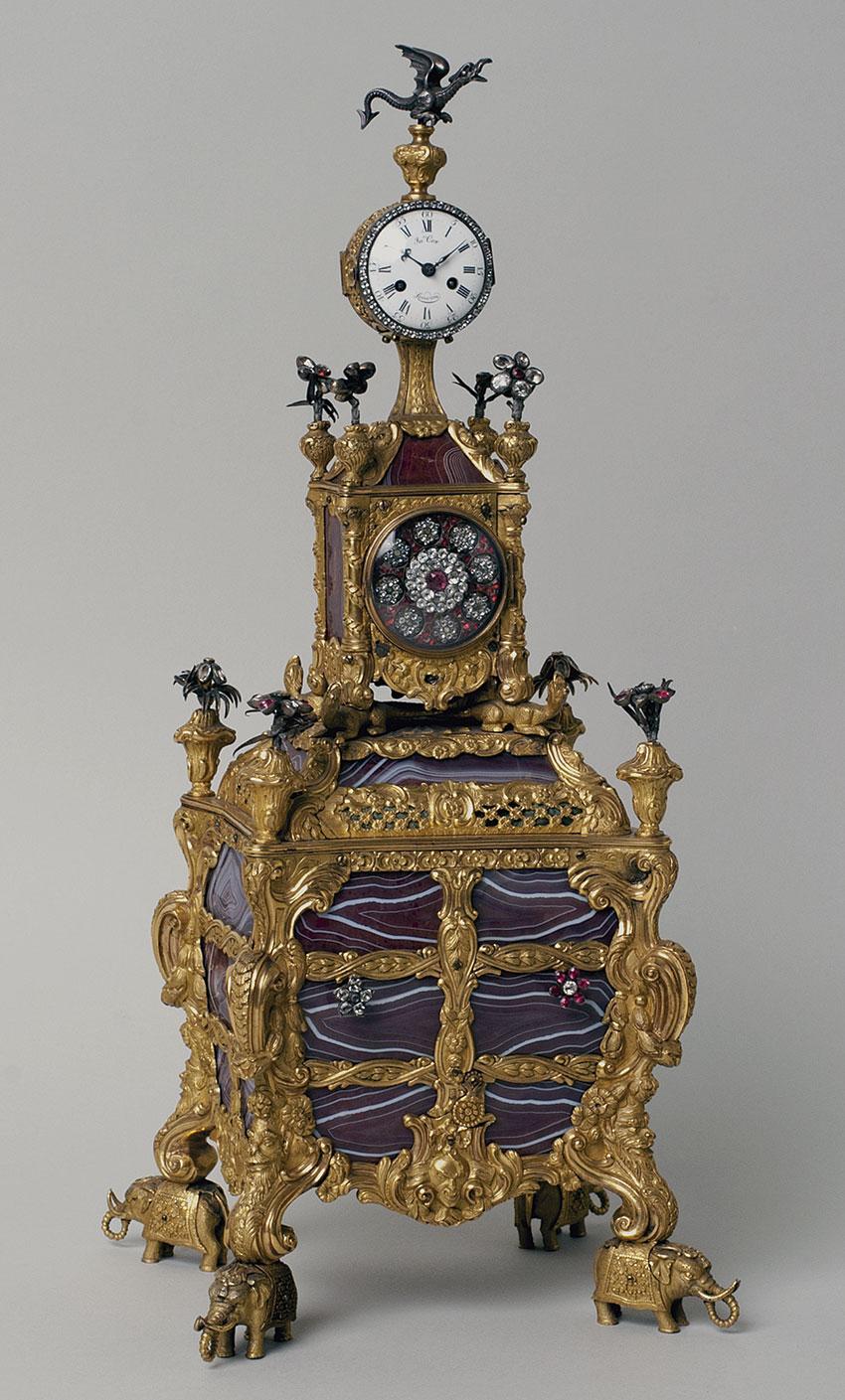 39_Reloj joya inglés de Sobremesa, por James Cox Circa 1765. Medidas 18x16,5x14 cm. Nº Inv. P.O.285