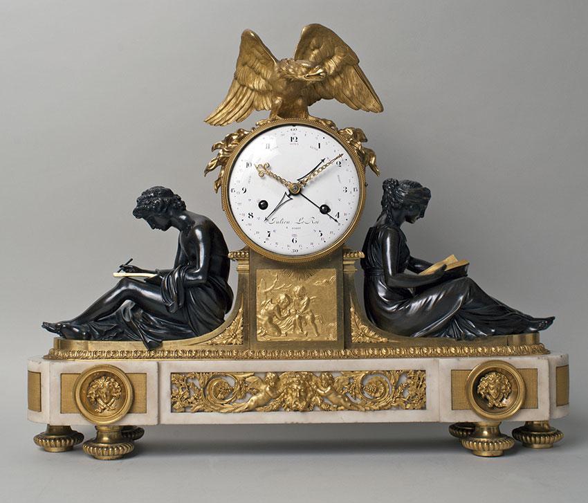 50_Reloj frances Luis XVI por Julien Le Roi. Circa 1780. Medidas 56 x 66 x 16,5 cm