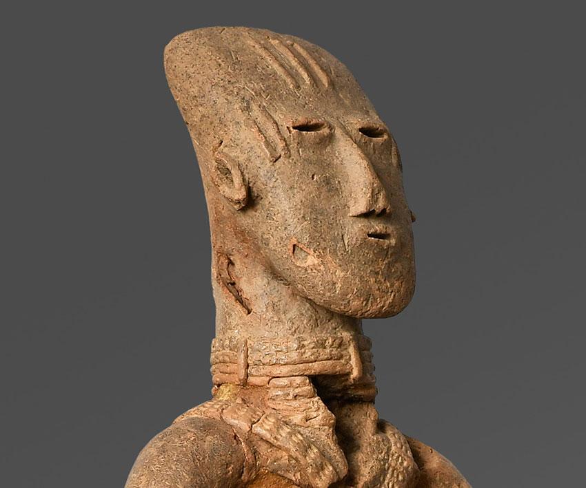 Equestrian. Bura-Asinda-Sikka Site, Niger. 3rd–10th century_detail 1_African Art