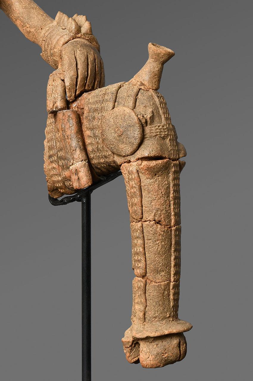 Equestrian. Bura-Asinda-Sikka Site, Niger. 3rd–10th century_detail 2_African Art_