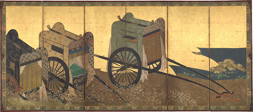 MET-Museum_-Kyoto-Imperial-Carts-Screen_-mid-17th-century_DP-17329-001_850-W