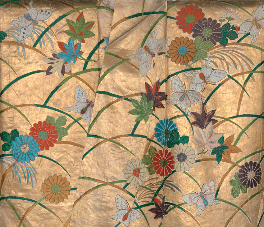 MET-Museum_-Kyoto_Noh-Robe-Nuihaku-with-Butterflies-Chrysanthemums-Maple-Leaves-and-Miscanthus-Grass-second-half-of-the-18th-century_detail_-DP277702-850-W.