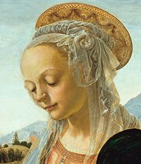 Andrea-del-Verrocchio_Madonnna-and-Child_painting_detail-head_200-x200