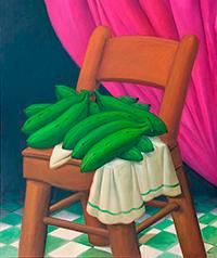 Fernando Botero_Bananas-on-a-chair_200-x-200